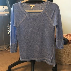 Joie XS blue 3/4 length sleeve shirt